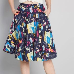Modcloth Skirts - ModCloth Women's NWT Just This Sway A-Line Skirt